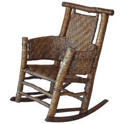 Rustic Rocking Chair Chiavari Rental Birch Rocker By Lee Fountain At 1stdibs