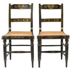 Cane Chairs For Sale Ektorp Tullsta Chair Cover Pair Of American Painted New England Side With
