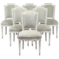Louis Dining Chairs Plastic Outdoor Big W Antique Xvi Style Set Of Six At 1stdibs
