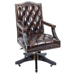 Fancy Leather Chair Folding Office English Handmade Designer Desk At 1stdibs