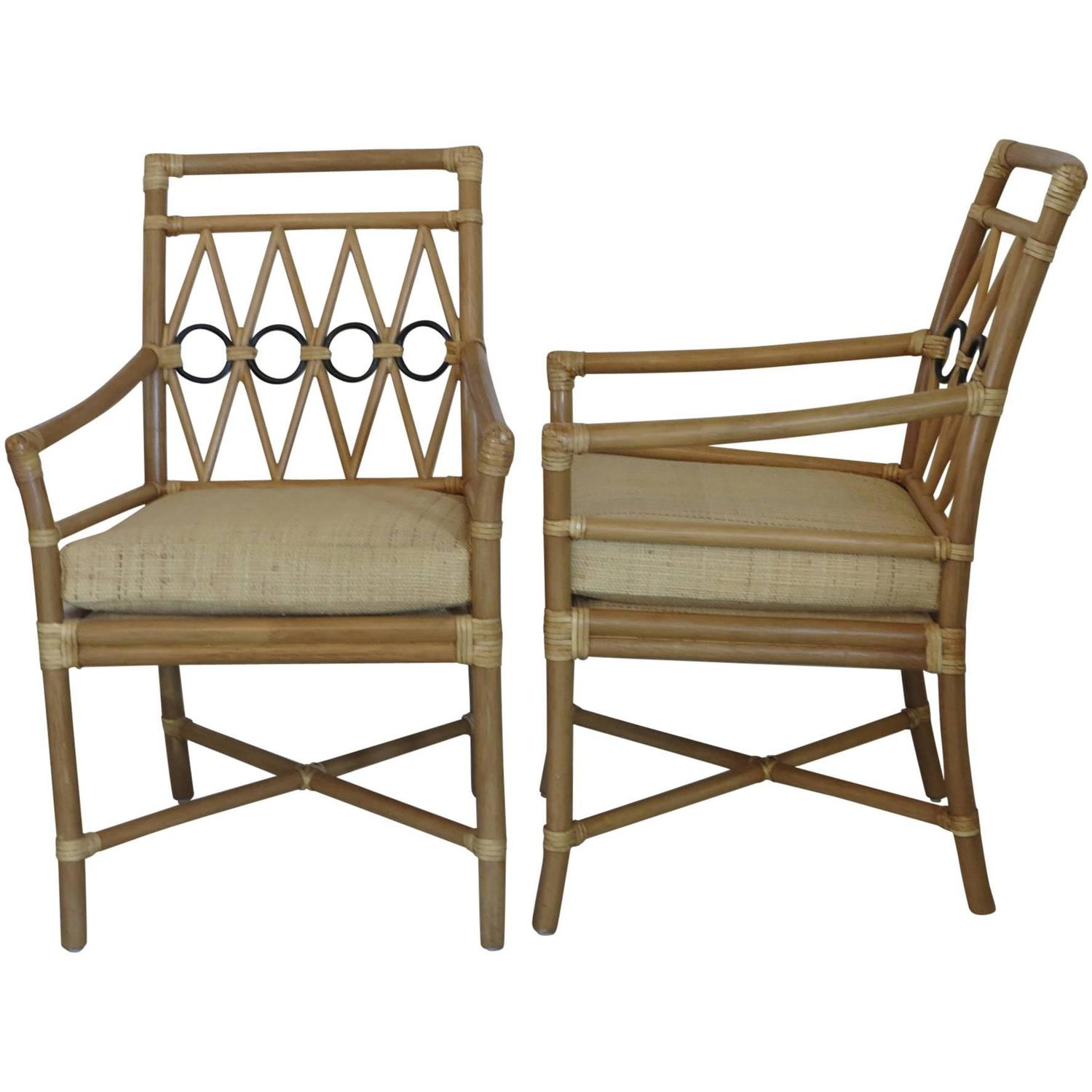 ficks reed chair outdoor papasan armchairs with raffia cushion covers at 1stdibs