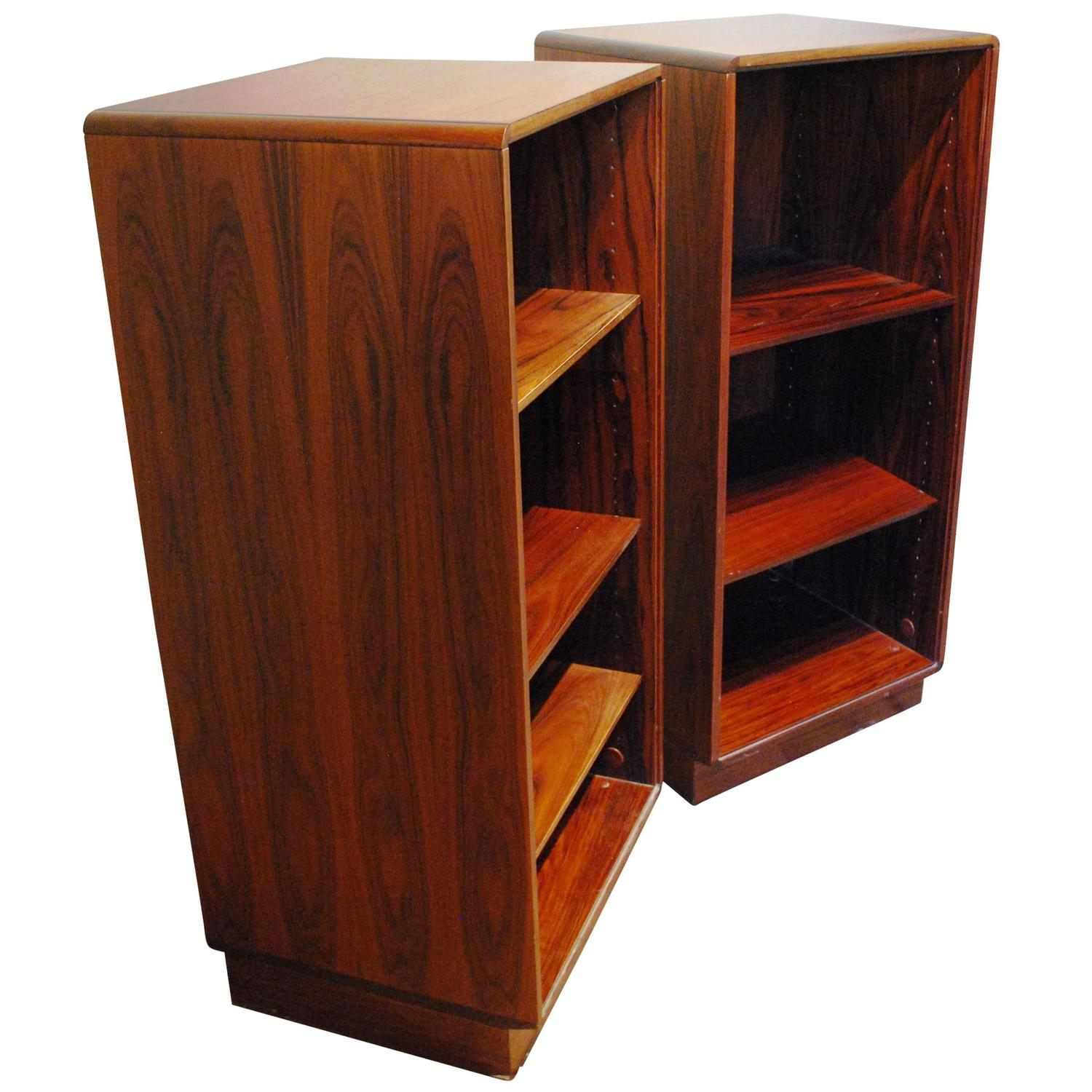 bookshelf chair for sale 8 dining table set pair of rosewood danish modern bookcases circa 1960