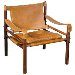Leather Safari Chair Office Green Arne Norell Rosewood And At 1stdibs
