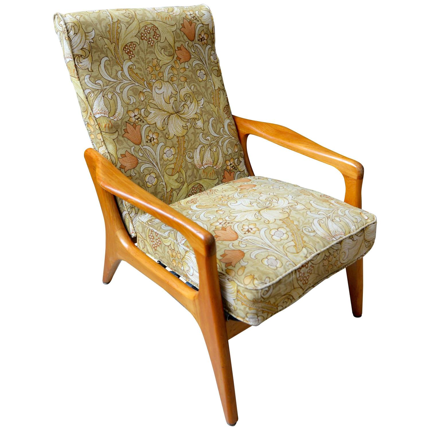 morris chairs for sale stackable resin patio 1960s danish lounge chair upholstered in william