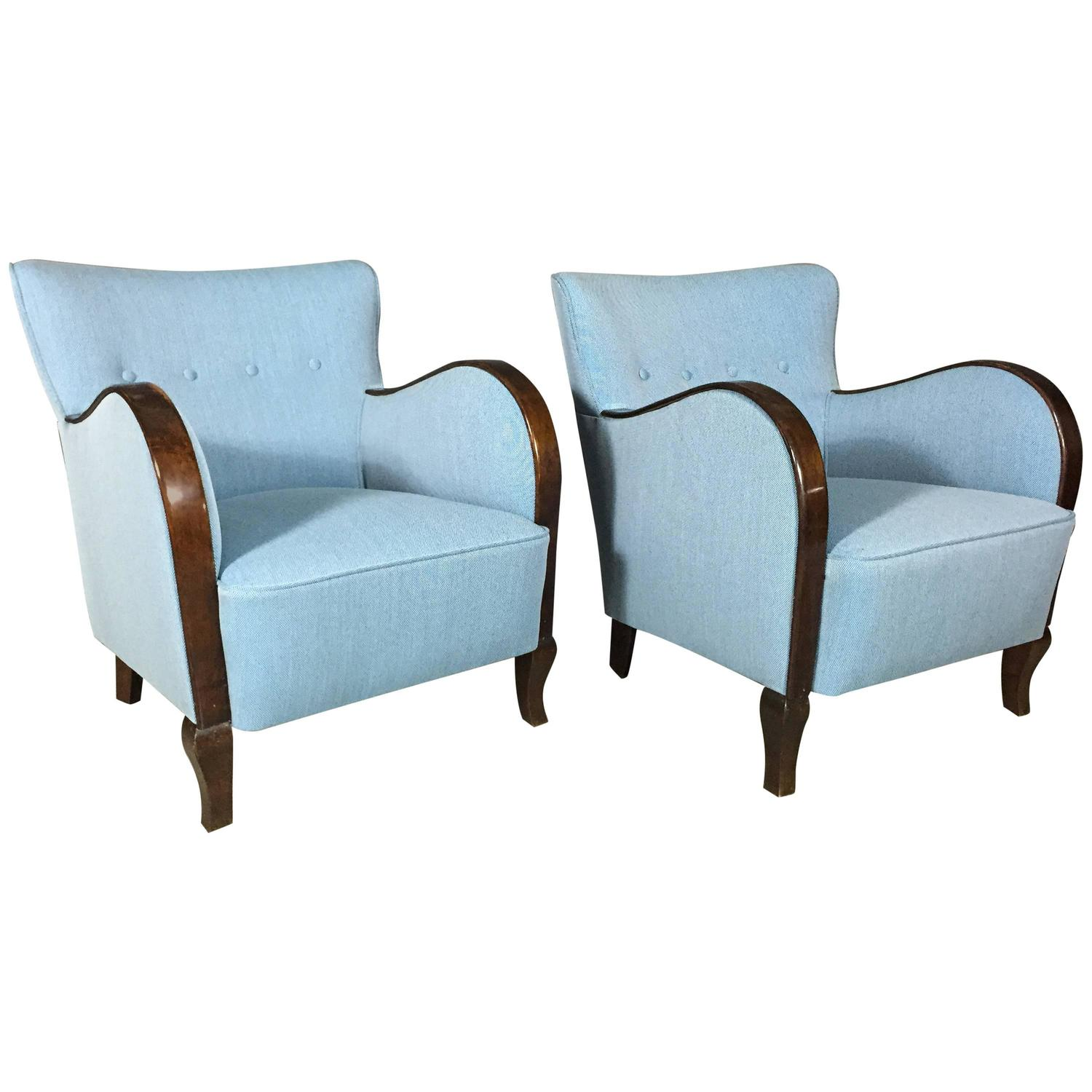 French Club Chair Handsome Pair Of French Club Chairs Circa 1940 New