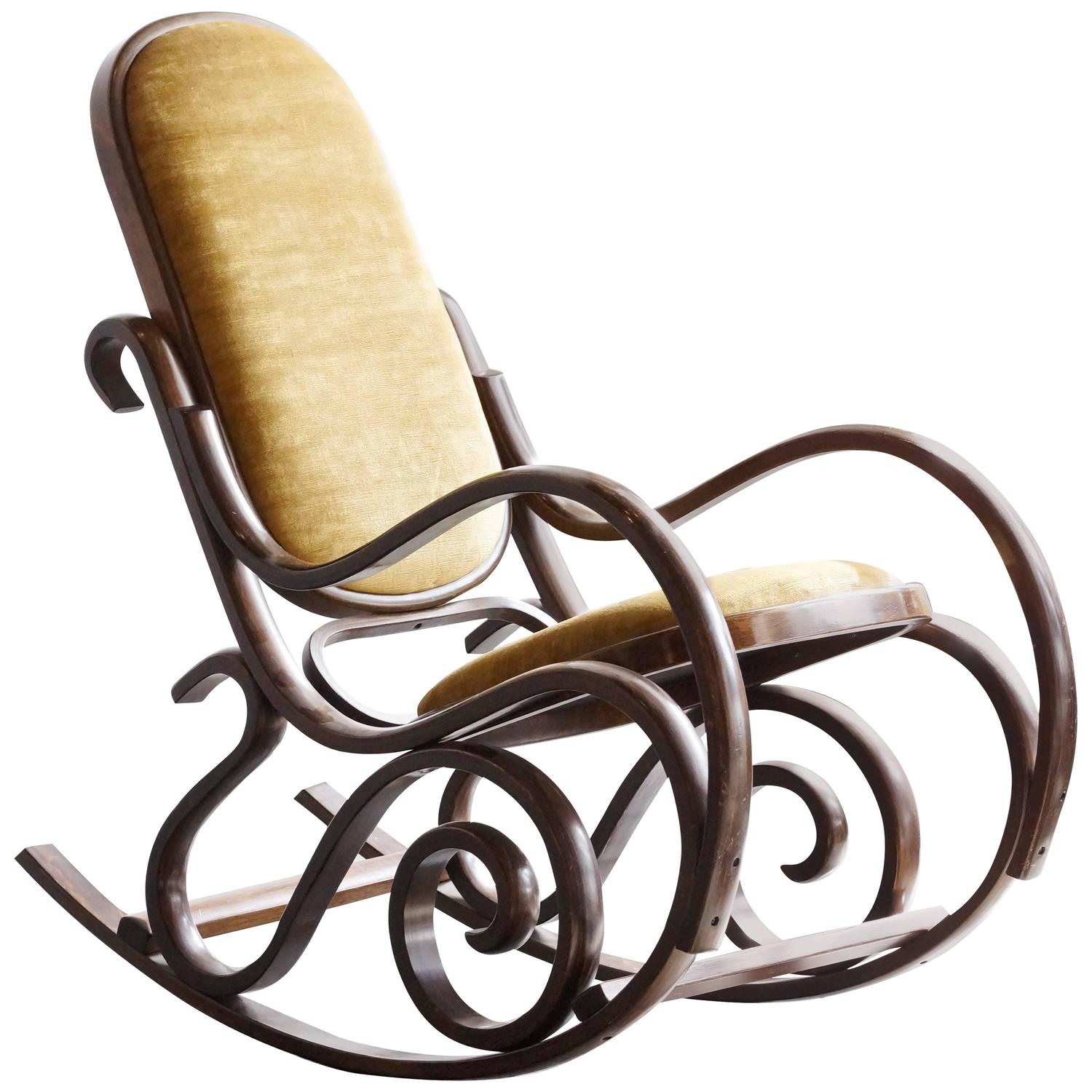 bent wood rocking chair hanging chairs for outside australia thonet style bentwood at 1stdibs