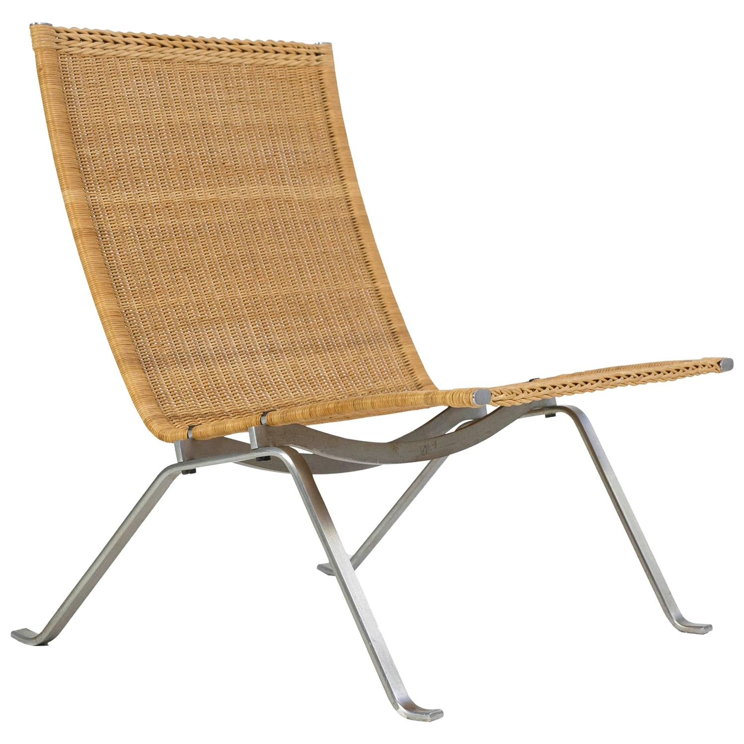 Pk22 Chair Poul Kjærholm Pk22 Wicker Chair E Kold Christensen For
