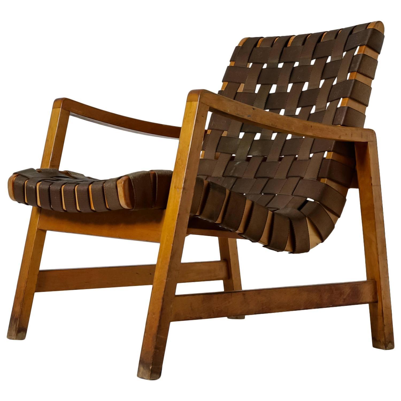 Jens Risom Model 652 Webbed Lounge Chair for Knoll USA