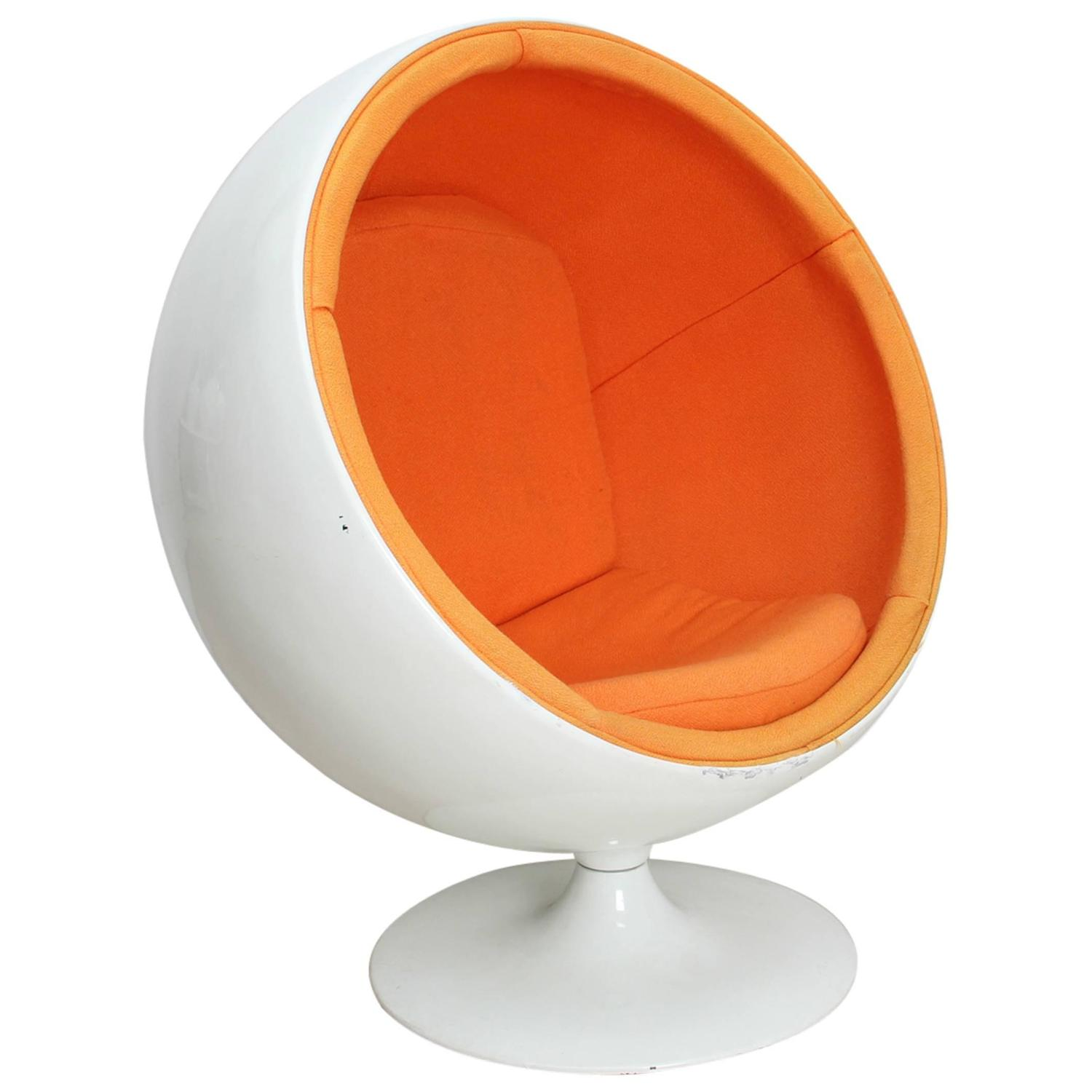 Child Egg Chair Ball Chair For Kids By Eero Aarnio Ed Adelta 1963 For