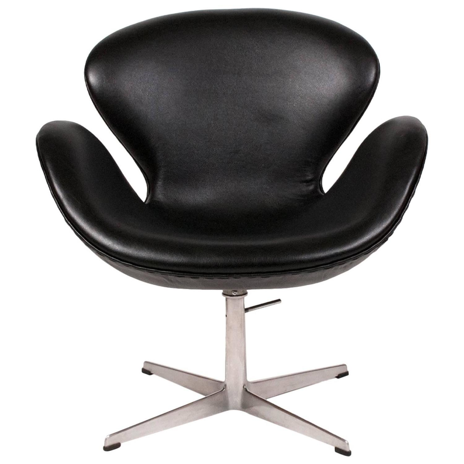 arne jacobsen swan chair wrought iron table and 4 chairs height adjustable by at 1stdibs
