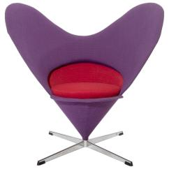 Vernon Panton Chair Swivel Without Wheels Verner Heart For Sale At 1stdibs