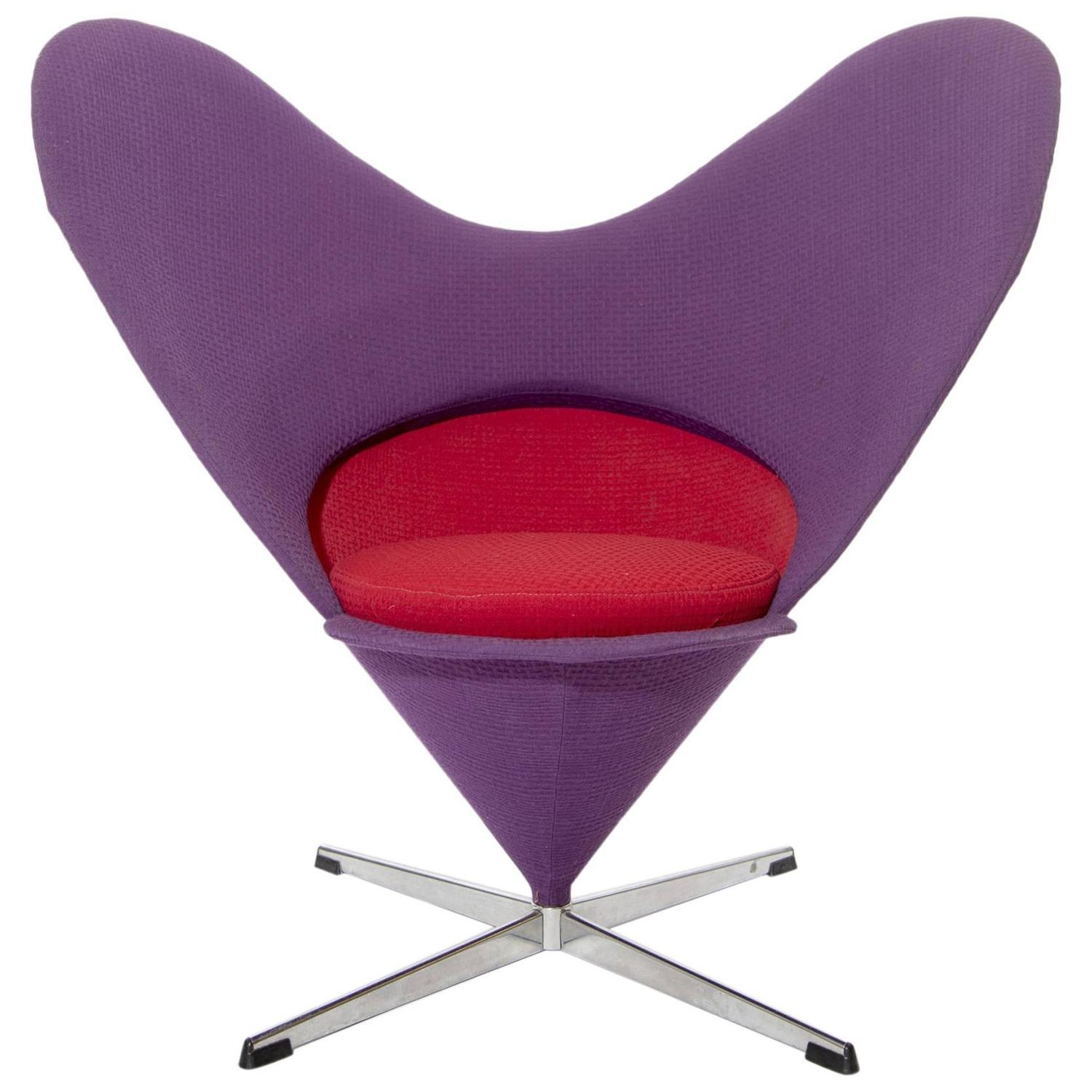 Heart Chair Verner Panton Heart Chair For Sale At 1stdibs