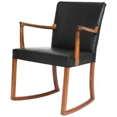 Black Rocking Chairs Folding Chair Vine In Mahogny And Leather For Sale At 1stdibs