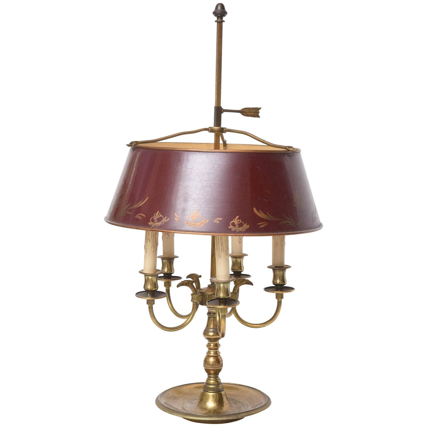 Antique Tole Bouillotte Lamp at 1stdibs