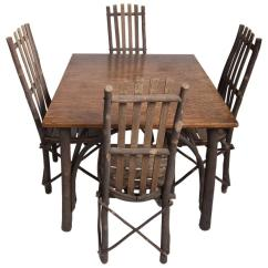 Adirondack Style Dining Chairs French Provincial Chair Styles Antique Old Hickory Table And For Sale At 1stdibs