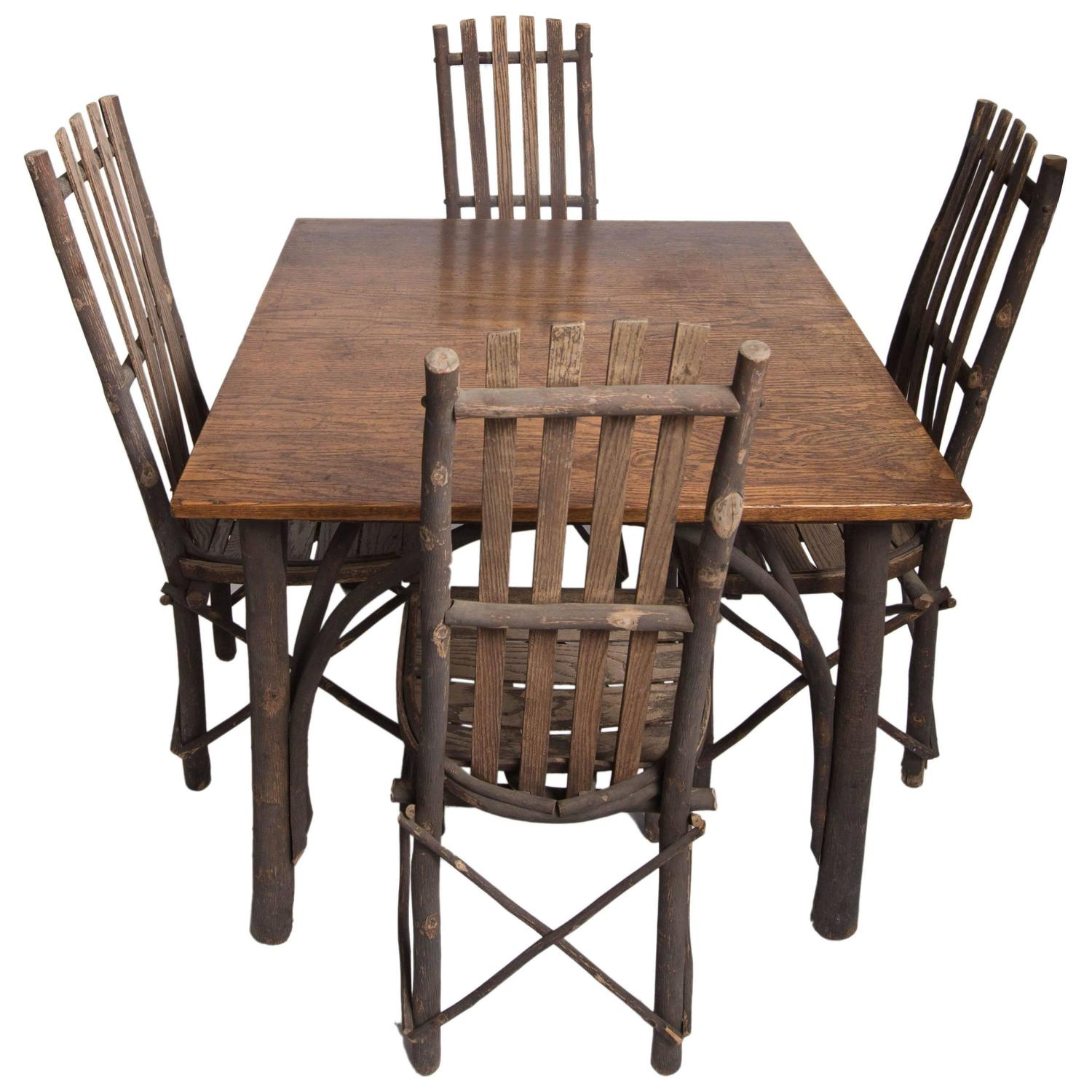 hickory chairs for sale teen bean bag antique adirondack old table and