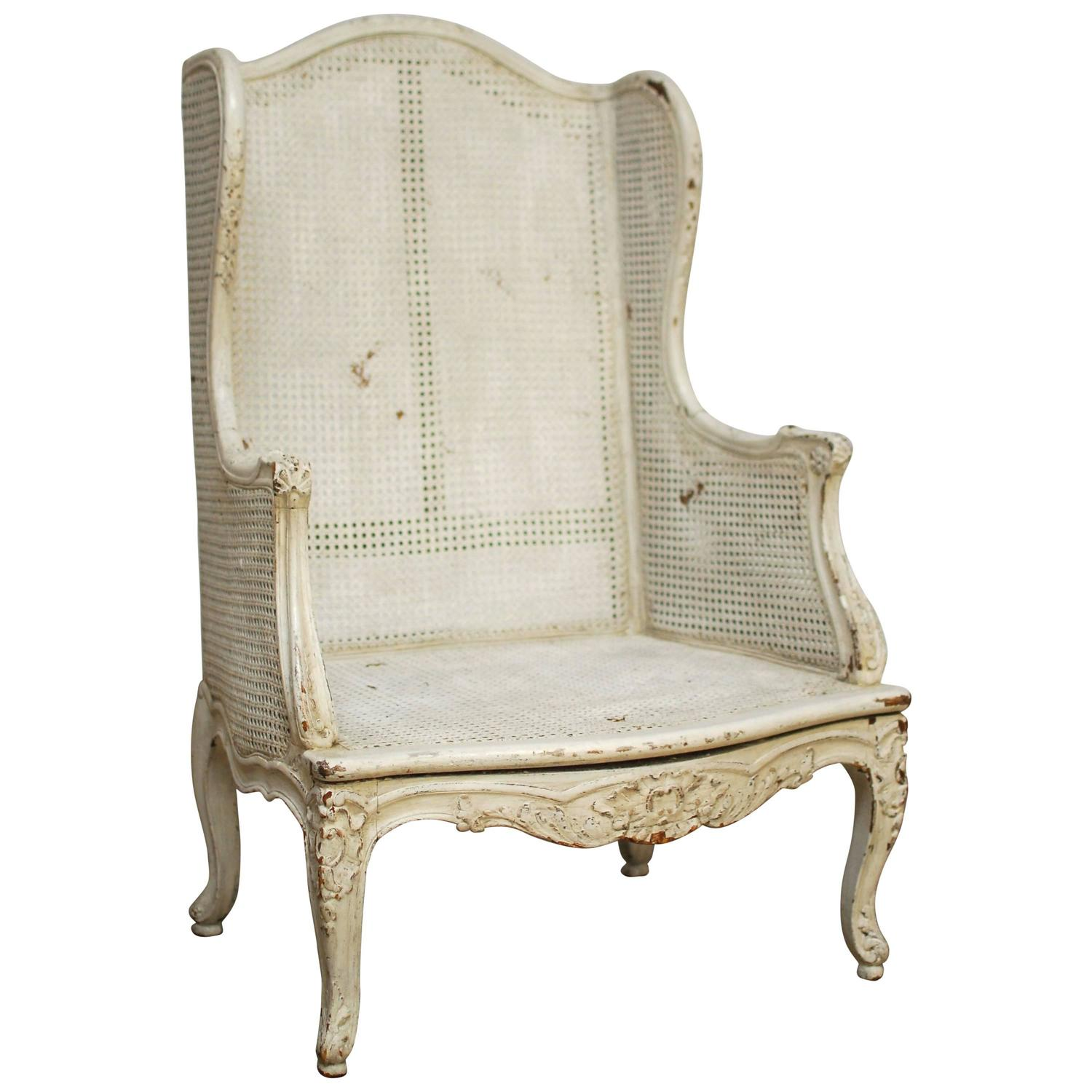 bergere chairs for sale swing chair cane louis xv wingback at 1stdibs