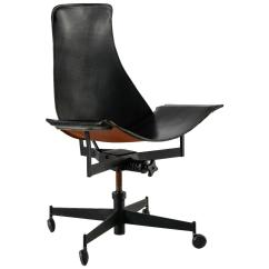 Leather Sling Chairs Wooden Dolls High Chair Toys R Us William Katavolos Swiveling Black Usa