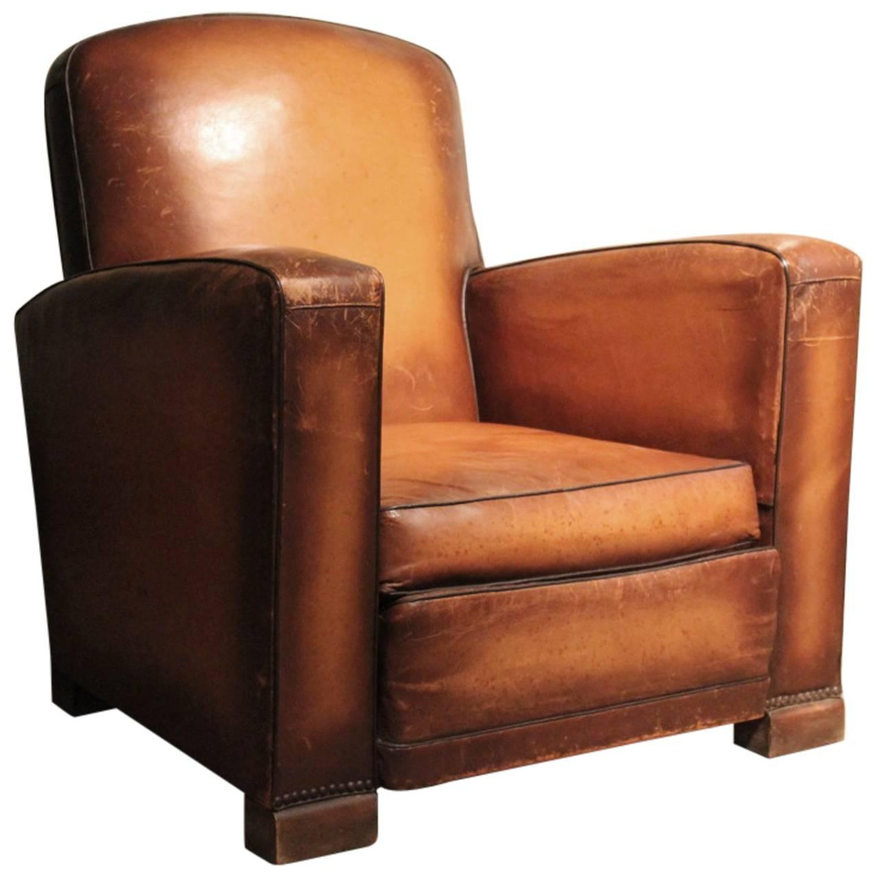 Leather Arm Chairs Circa 1930s Single Leather Armchair At 1stdibs