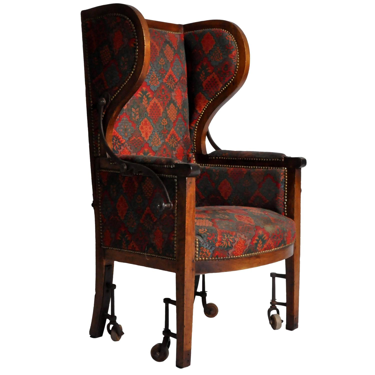 reclining wingback chair peg perego high prima pappa at 1stdibs