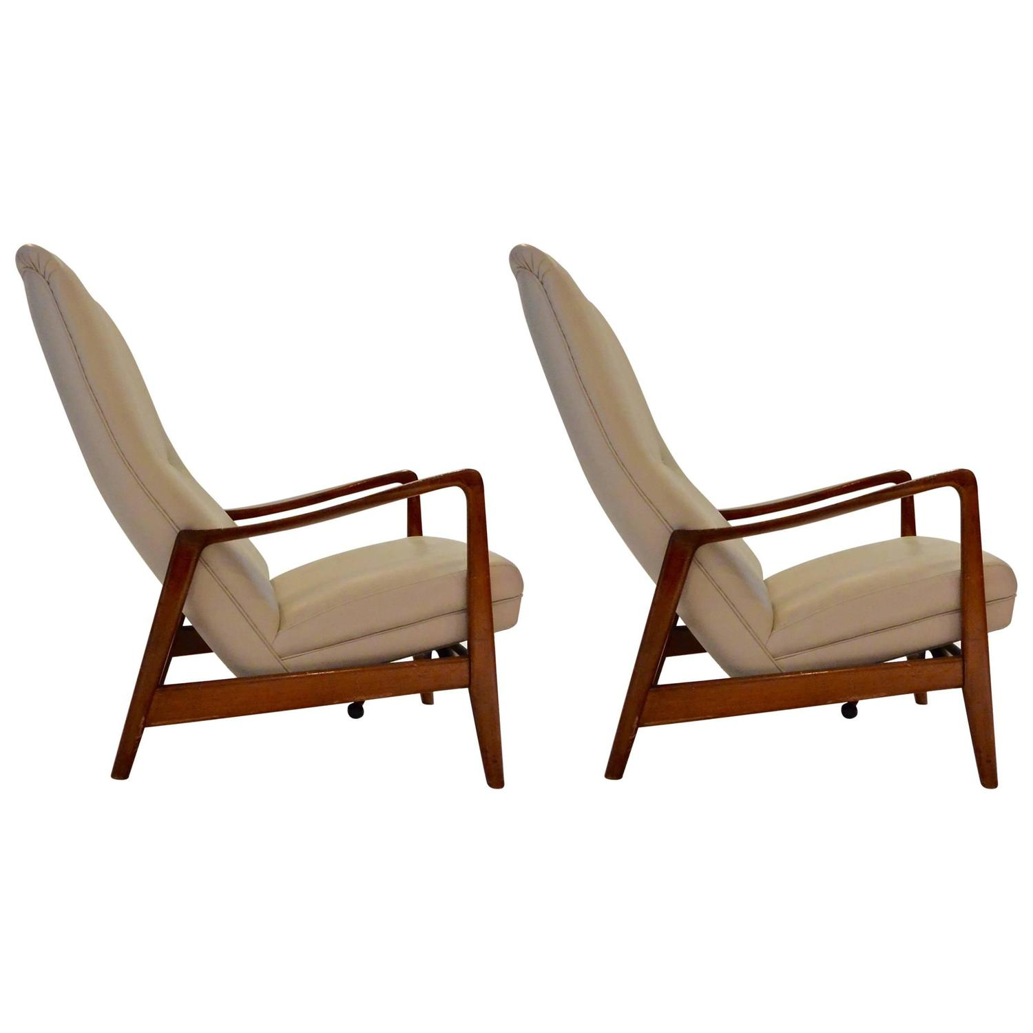 gio ponti chair computer chairs on sale pair of lounge by quot829 quot circa 1963 for