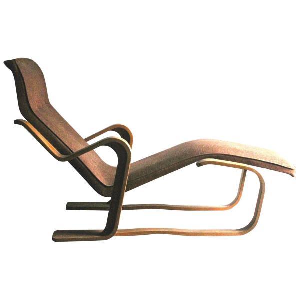Marcel Breuer Isokon Upholstered Long Chair 193536 For