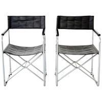 Pair of Japanese Uchida Midcentury Folding Chairs at 1stdibs