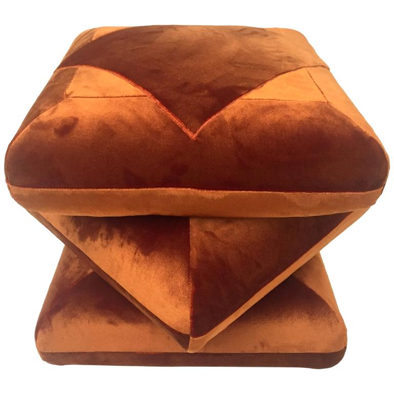 Cabana Velvet Ottoman Pouf in Collaboration with Dedar at