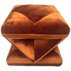 Mid Century Danish Chair Toys Are Us Baby High Chairs Cabana Velvet Ottoman Pouf, In Collaboration With Dedar At 1stdibs
