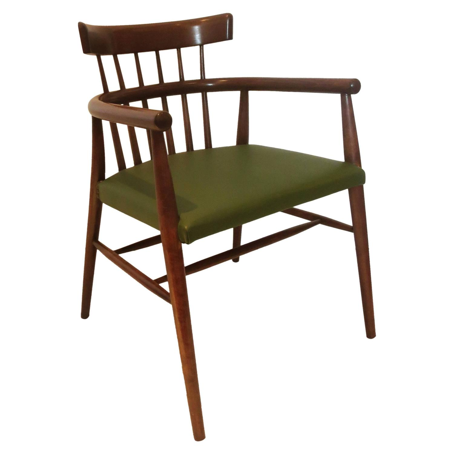 Windsor Style Chairs Danish Modern Windsor Style Spindle Back Armchair In
