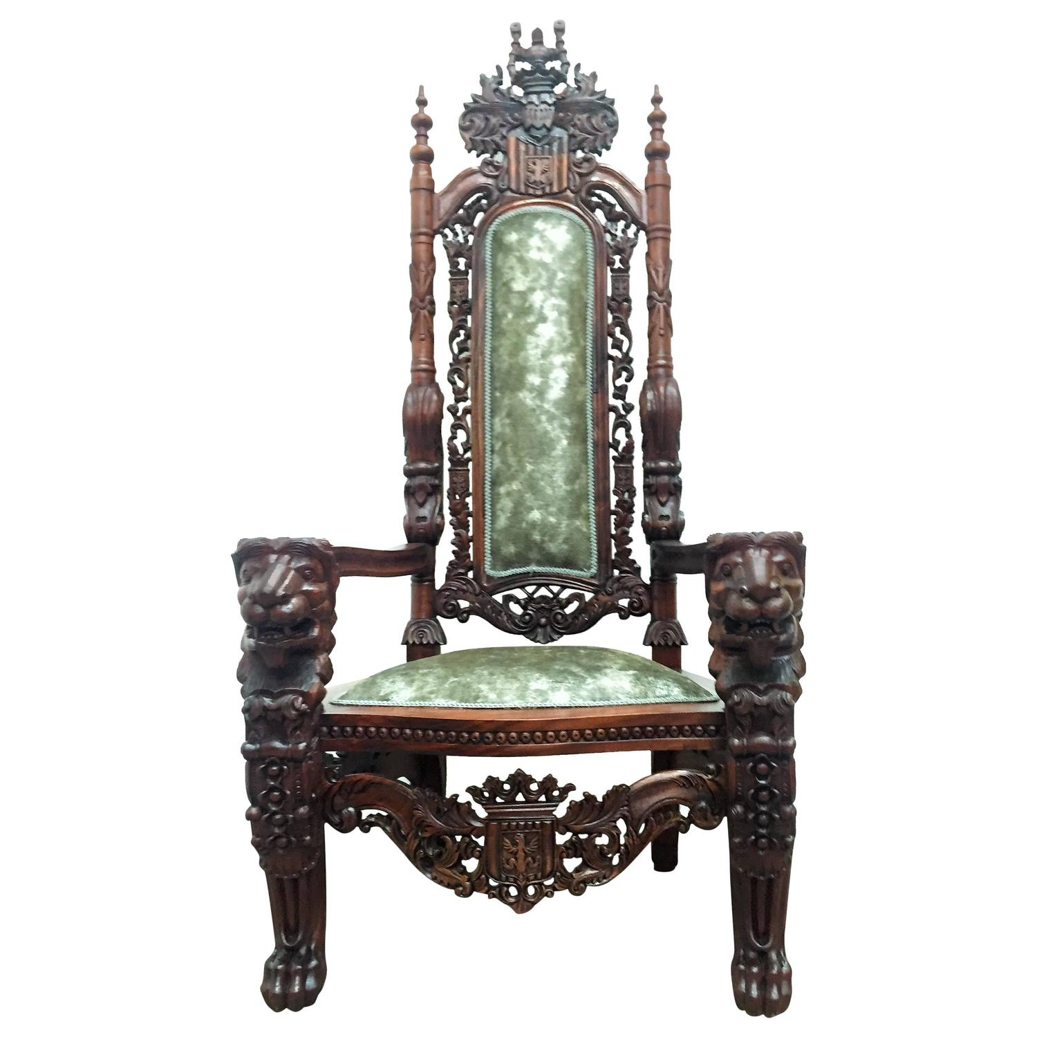 throne chair for sale bedroom monumental at 1stdibs