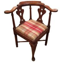 Handsome Queen Anne Antique Corner Chair at 1stdibs