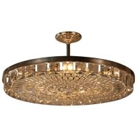 Large Crystal Flush Mount Chandelier at 1stdibs