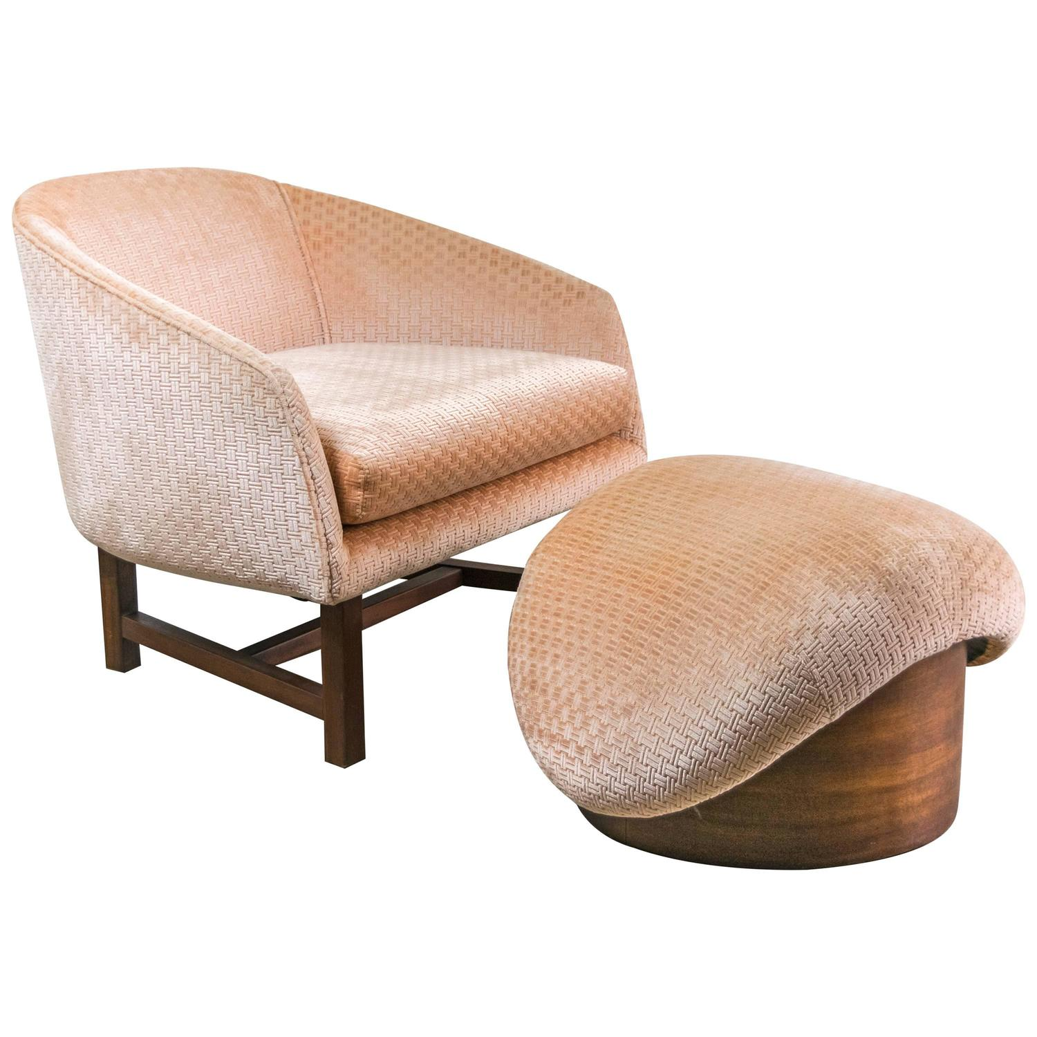 Reading Chair And Ottoman Mid Century Modern Reading Chair And Ottoman At 1stdibs