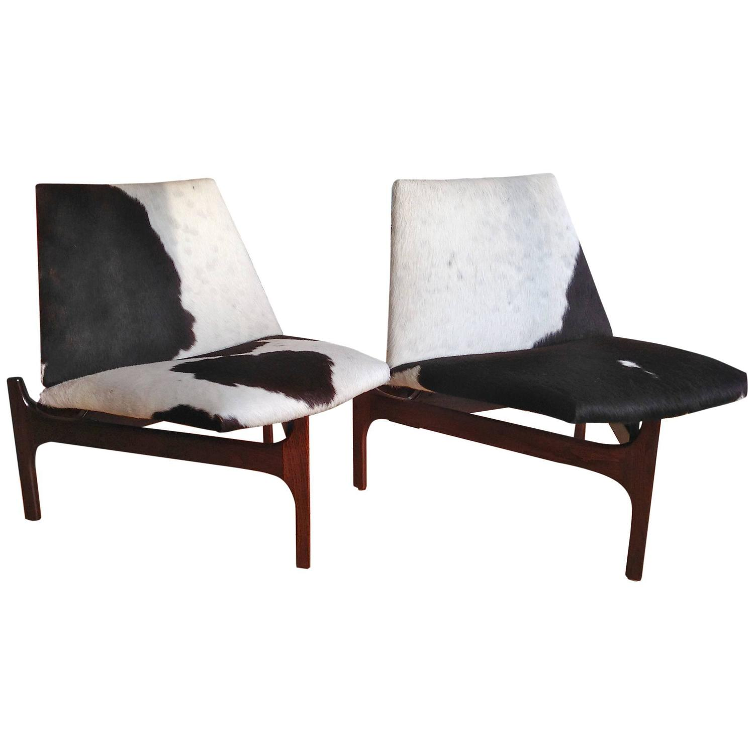 cowhide chairs modern round microfiber chair sculptural low lounge with upholstery for