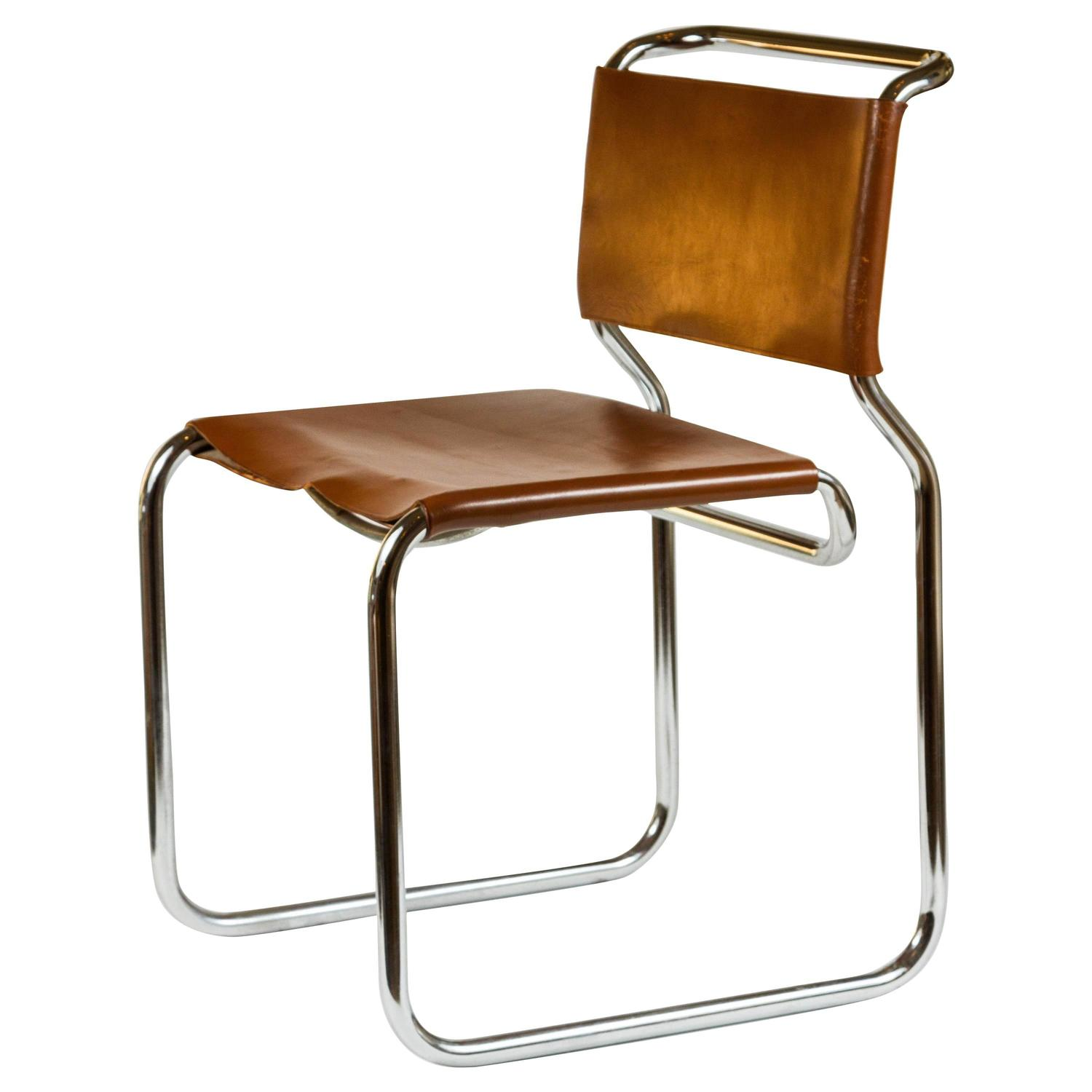 leather and chrome chairs designer office cantilevered chair at 1stdibs