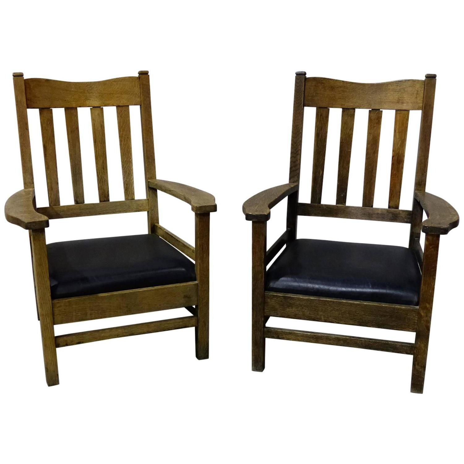 Mission Style Chairs 1920 Large Lodge Craftsman Style Lounge Chairs For Sale At