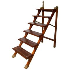 Library Chair Ladder Plans High Cover Replacement Walmart Folding Steps At 1stdibs