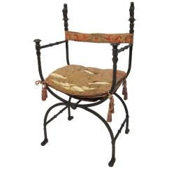 Wrought Iron Chair Best Office Massage Savonarola For Sale At 1stdibs
