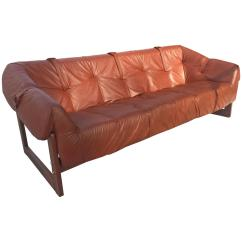 Percival Lafer Sofa Red Room Design Ideas Leather Rosewood Made In Brazil At 1stdibs