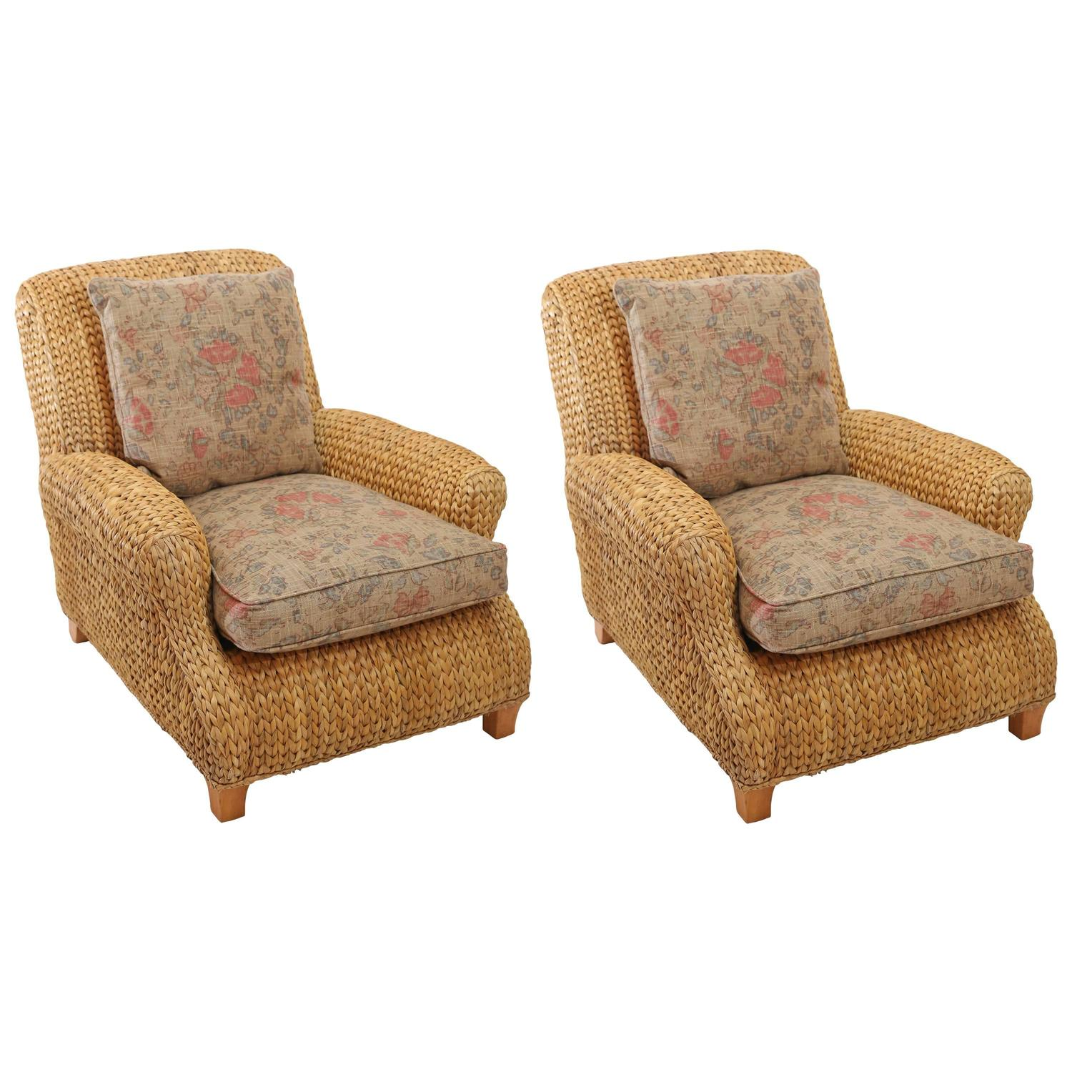 sea grass chairs power lift medicare pair of ralph lauren seagrass club at 1stdibs