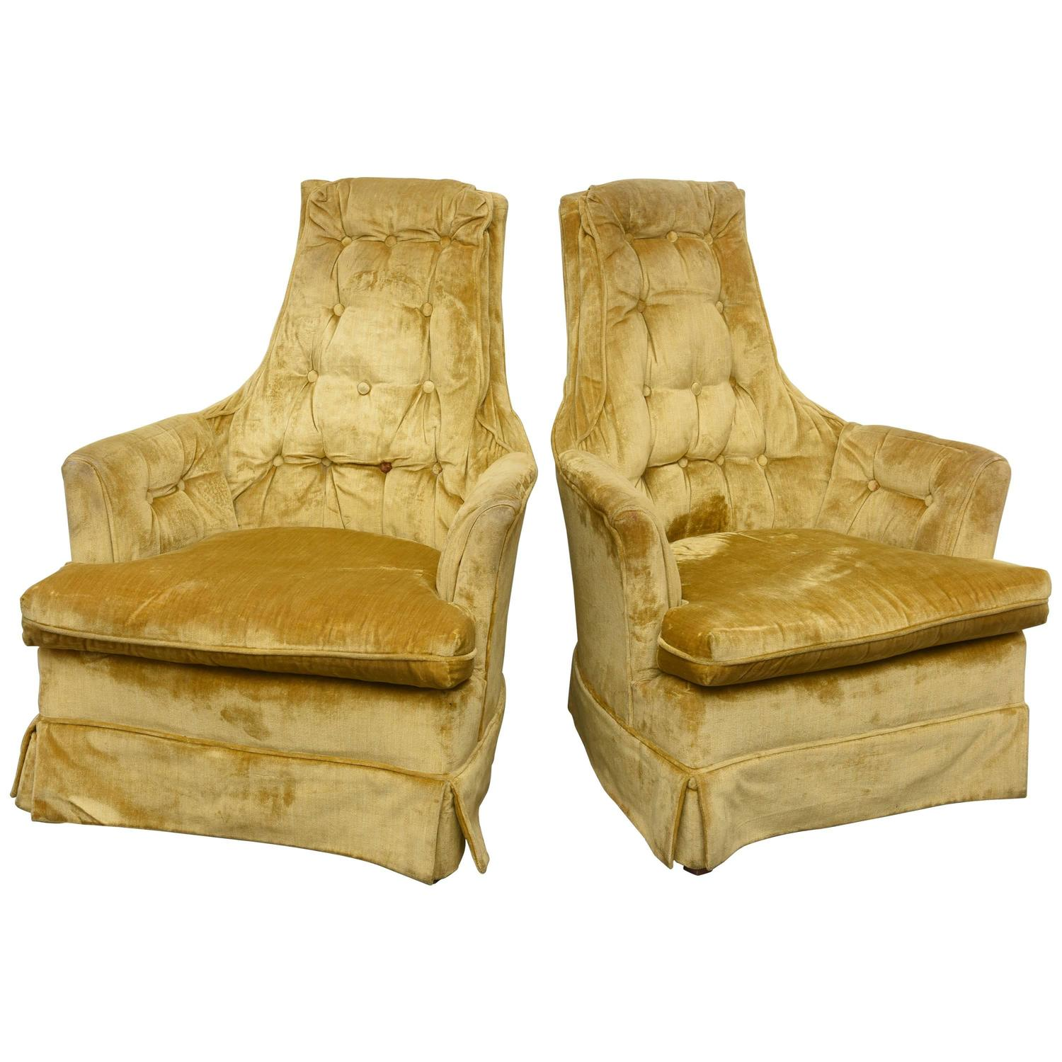 high back tufted chair sex glider swivel rocker lounge chairs 1960s usa for sale at 1stdibs