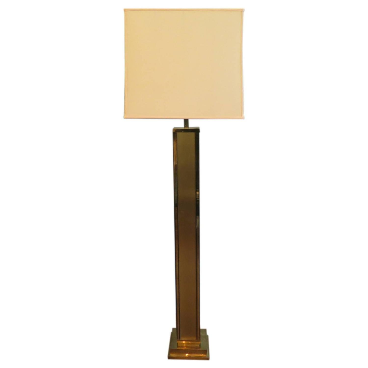 Tall Italian Brass Floor Lamp at 1stdibs