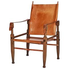 Leather Safari Chair White Wrought Iron Kitchen Chairs Swiss By Wilhelm Kienzle For