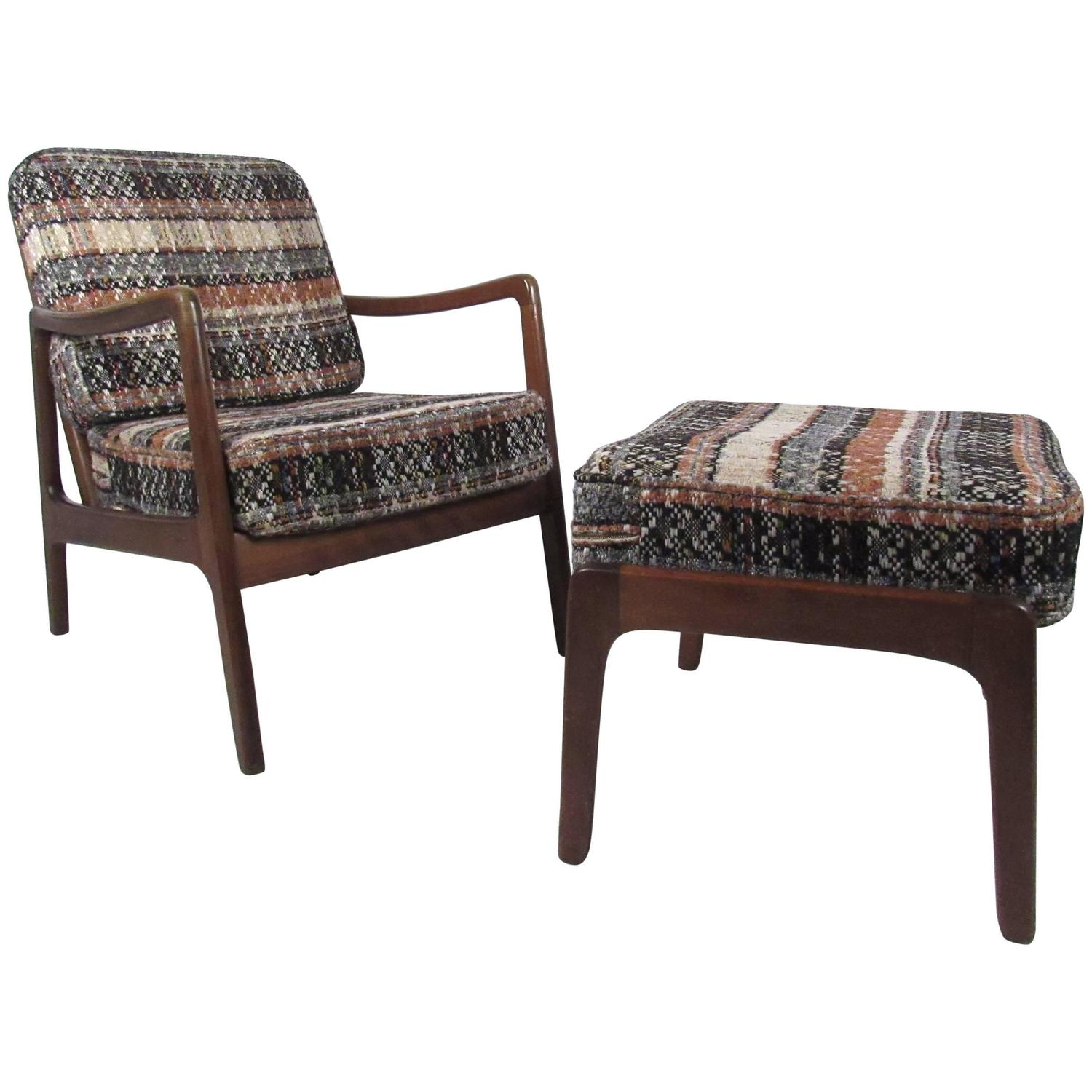 Mid Century Modern Lounge Chairs Mid Century Modern Ole Wanscher Lounge Chair With Ottoman