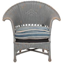 Wicker Chairs For Sale Global Upholstery Chair Vintage Veranda With African Mudcloth Cushion