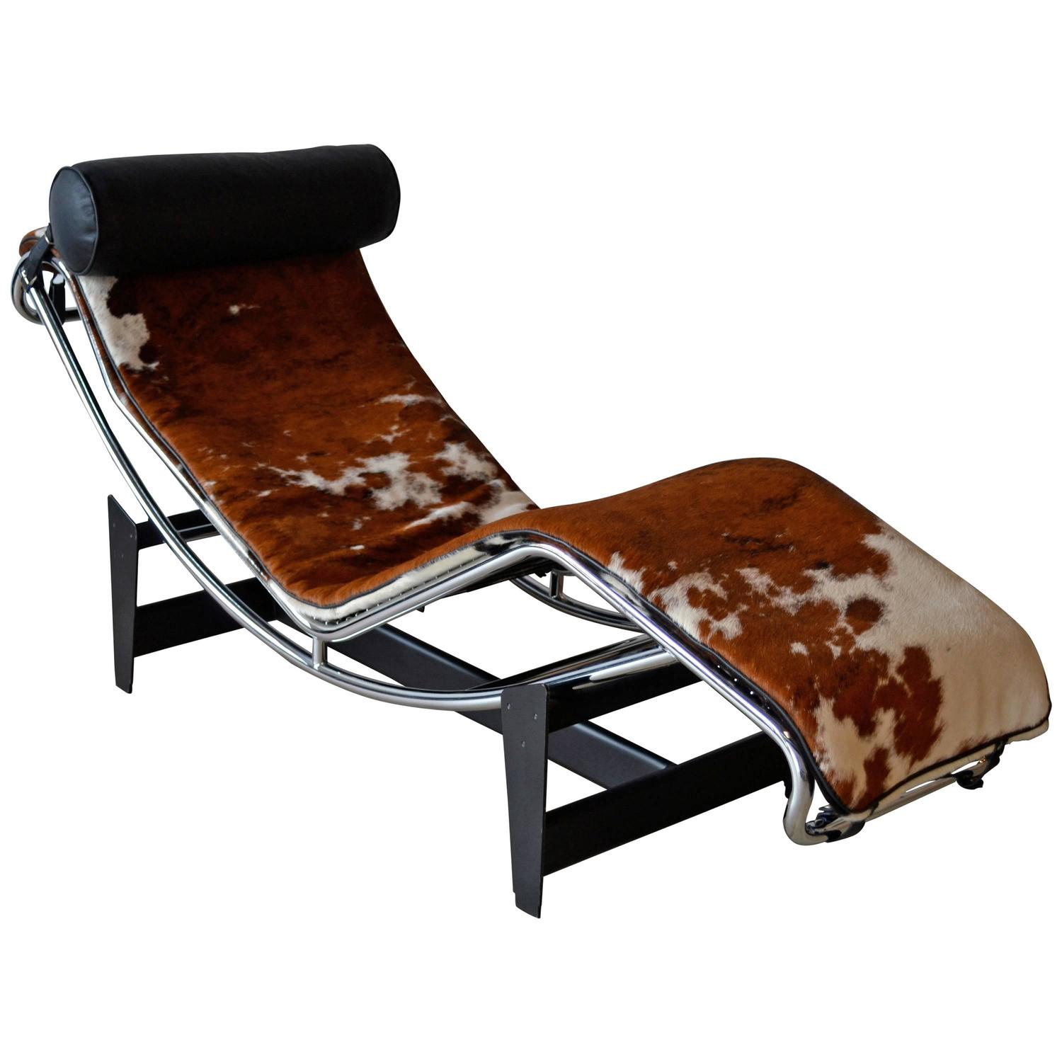 le corbusier chair office stool with wheels lc4 chaise lounge at 1stdibs