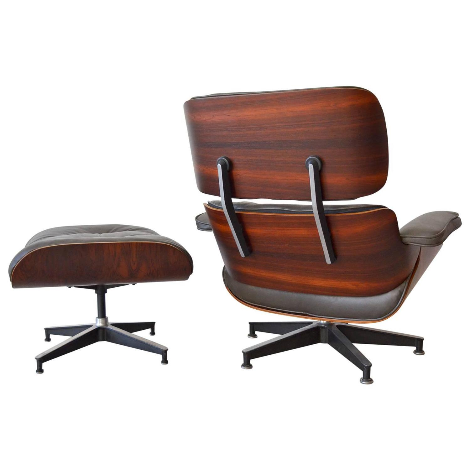 Lounge Chair With Ottoman Rosewood Eames Lounge Chair With Matching Ottoman At 1stdibs