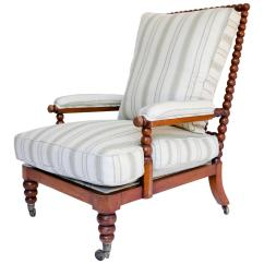 Antique Beach Chair Folding Easy Cloth Bobbin Lounge For Sale At 1stdibs