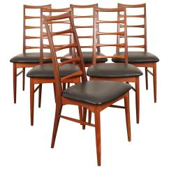 Ladder Back Dining Room Chairs Tablecloths And Chair Covers For Sale Set Of Six Tall Teak Leather
